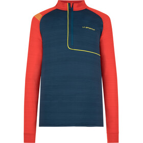 La Sportiva Planet Long Sleeve Shirt Men, opal/poppy